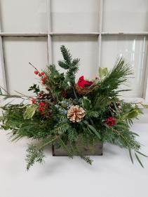Rustic cardinal box Holiday
