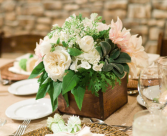 Rustic  Centrepiece  Reception Flowers
