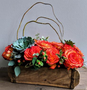 Rustic Chic Roses Fresh Floral Design