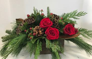 Rustic Christmas wooden box