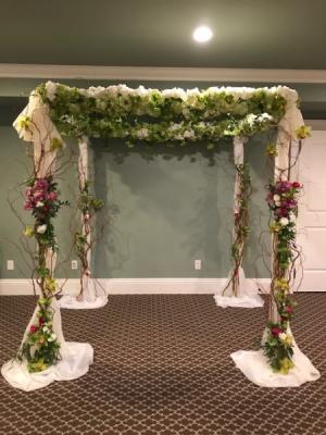 Rustic Chuppah  in Teaneck, NJ | Teaneck Flower Shop (A.A.A.A.A.)