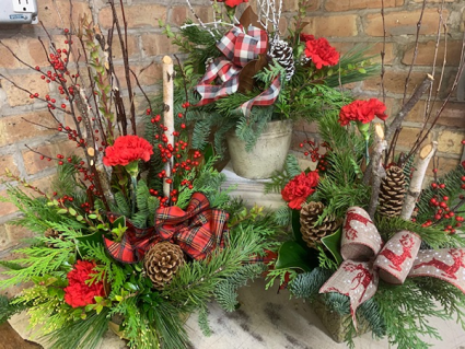Rustic Collection Christmas Arrangment