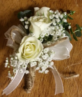 Rustic Corsage Pin On