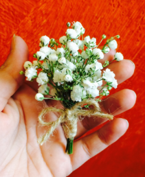 Rustic Country Baby's Breath Boutonniere