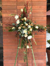 Rustic Cross Spray Funeral