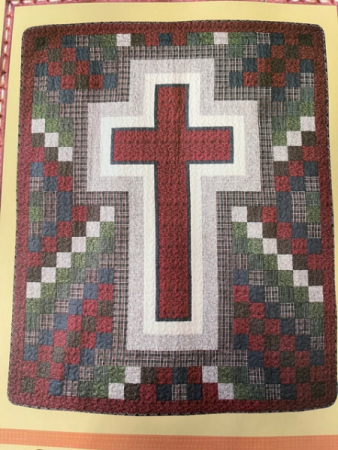 Rustic Cross Throw