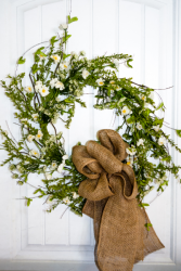 Rustic Daisies Silk Wreath