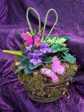 Rustic Easter Plant Basket