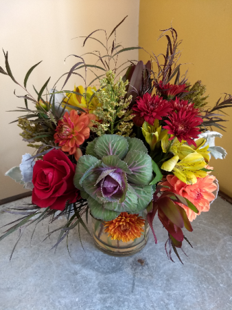 rustic fall arrangment