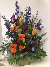 S100 - Rustic Floral Fresh arrangement
