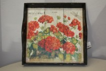 Rustic Geranium Tray Decor/ Gifts