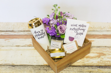 Rustic Farmhouse Gift Boxes  Flowers and Locally Made Products