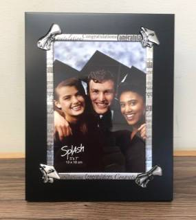 Rustic graduation frame Personalized engraved gift