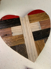 Rustic Heart w/Cross Home Decor