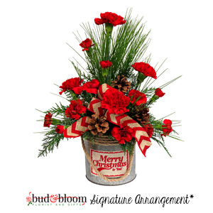 Rustic Holiday Bud & Bloom Signature Arrangement in Mooresville, IN | BUD AND BLOOM FLORIST AND GIFTS
