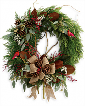 Rustic Holiday Wreath Christmas