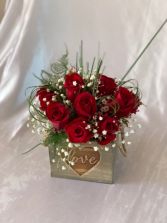 Rustic Love Rose Box Valentine's Day