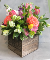 Rustic Love Rustic Wood Box Arrangement