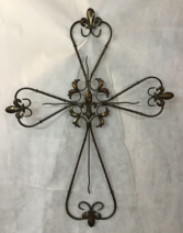 Rustic Metal Wall Cross Gift