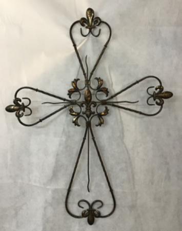 Rustic Metal Wall Cross Gift