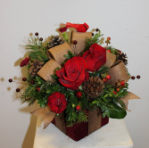 Rustic Gift Box Arrangement ***LOCAL DELIVERY ONLY***