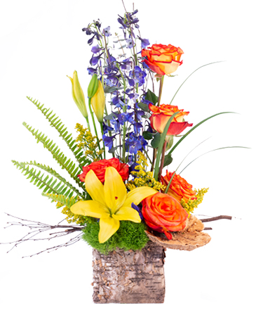 Rustic Roses Flower Arrangement