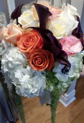 Rustic Roses & Hydrangeas Bridal bouquet
