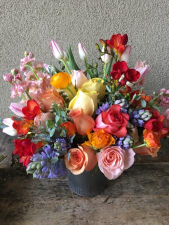 Designer's Choice of Seasonal Flowers Vase of Your Choice