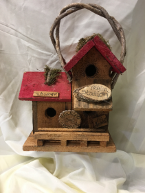 Rustic Train Station Birdhouse Gift / Sympathy