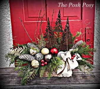 Rustic Tree Arrangement Winter Holiday