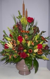 Rustic Urn Funeral Flower