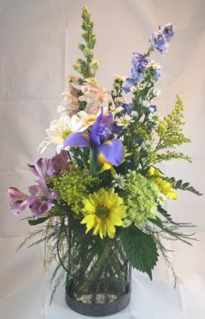 Rustic Wildflower  Vase