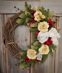 Rustic Winter Wreath Permanent Botanical