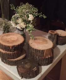 Rustic Wood Accent Pieces rustic