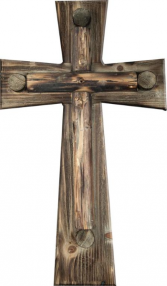 RUSTIC WOOD WALL CROSS