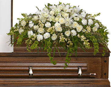 TRANQUILITY CASKET SPRAY Funeral Flowers