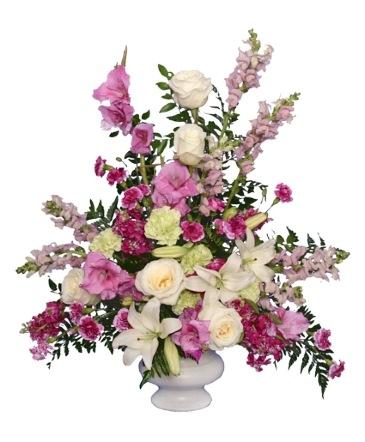MAGENTA SUNSET URN Funeral Flowers