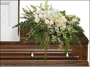 GARDEN ELEGANCE CASKET SPRAY Funeral Flowers in Riverside, CA | Willow Branch Florist of Riverside