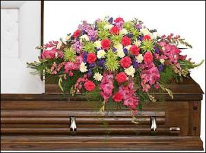ETERNAL BEAUTY CASKET SPRAY  Funeral Flowers in Columbus, NE | SEASONS FLORAL GIFTS & HOME DECOR