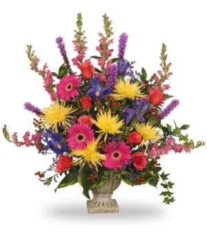 COLORFUL CONDOLENCES TRIBUTE  Funeral Flowers in Spring, TX | ANGEL'S DIVINE FLOWERS
