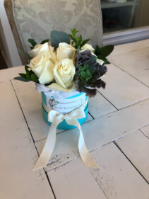 Tiffany Blue Flower Box Roses