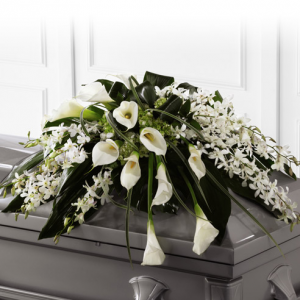 White Serenity Casket in Los Angeles, CA | California Floral Company