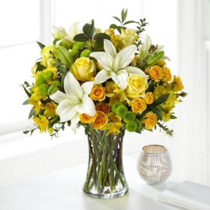S5294 Hope & Serenity Bouquet Vase Arrangement