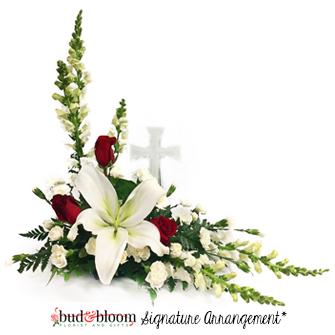 Sacred Cross Sympathy Arrangement