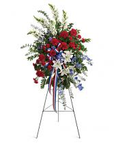 Sacred Duty Spray Funeral, Memorial FLowers