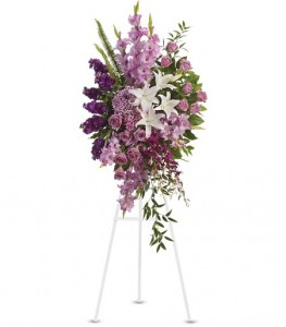 Sacred Garden Spray Standing Funeral Spray in Cape Coral, FL | ENCHANTED FLORIST OF CAPE CORAL