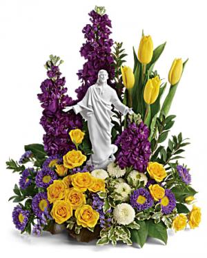 Sacred Grace Bouquet table arrangement in Berkley, MI | DYNASTY FLOWERS & GIFTS