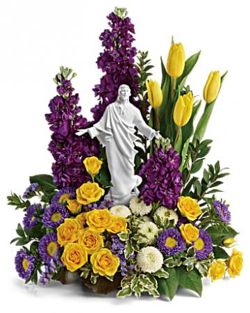Sacred Grace Bouquet table arrangement