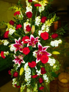 Sacred Tribute Spray  in Bethany, OK   MC CLURE'S FLOWERS & GIFTS