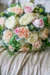 Sage and Softness bridal Bouquet Blossom Shops